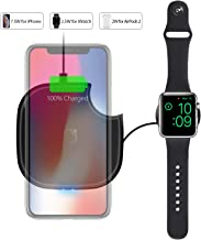 OLEBR Wireless Charger 2 in 1 10W Watch Charger Wireless Charging Compatible with iWatch Series 4/3/2/1, Airpods 2, iPhone 11/11Pro/11 Pro Max/Xs Max/XR/X/8 Plus/8, Galaxy and All Qi-Enabled Phones