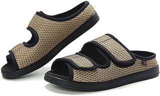 PXQ Chaussures orthopédiques âgées pour Femmes et Hommes, Sandales à Bouts Ouverts à très Grande Largeur Chaussures Ajusta...