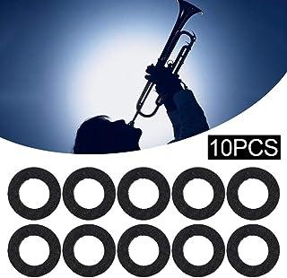 10 piezas de trompeta, accesorio de trompeta de llave pequeña, arandelas de fieltro, cojín de trompetas, accesorio de piezas musicales negro/blanco (en aleatorio)