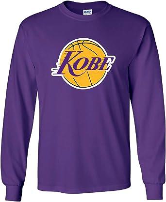 Amazon.com: Long Sleeve Purple Los Angeles Kobe Logo T-Shirt Adult ...