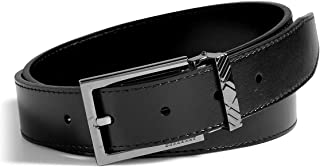 Burberry Brit Glossy Leather Briar Check Buckle Belt Size 40 or 44