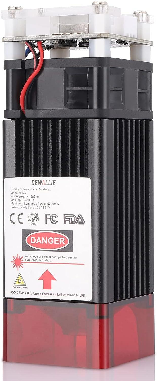 DEWALLIE 20W Laser Module 0.08-0.1mm Spot Adjustable lowest price Focus PWM shopping M