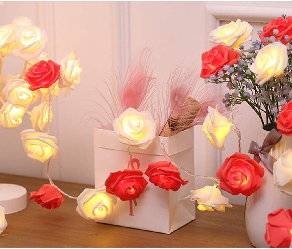 Super Special SALE held Indoor String Red Rose Lights 20 Battery Flower Ha Financial sales sale Operated Led
