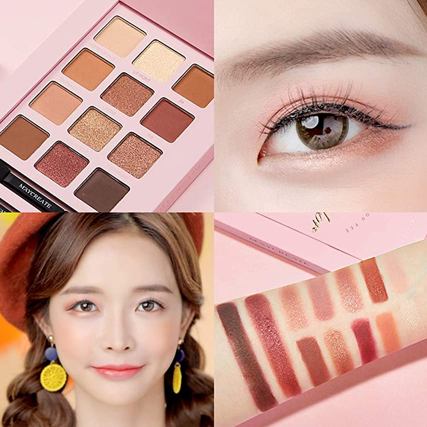 ウール適切にご注意Dkhsyアイシャドーマットアイシャドープレート美容女性の目の化粧品ラスティングキラキラアイシャドウ化粧品ツール 12色