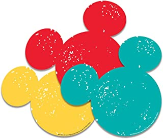 Eureka Back to School Disney Mickey Mouse Silhouette Paper Cut Out Classroom Decorations for Teachers, 36pc, 5.5'' W x 5.5'' H