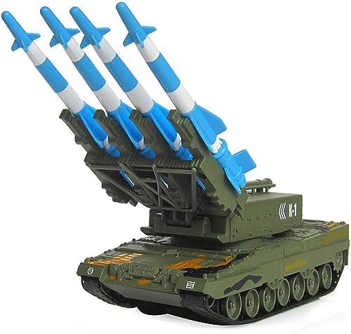 Ledu RC Panzerwagen, 1 40 Alu-Bahn-Panzermodell startet Flugabwehr-Raketenauto-Spielzeug, 360 ° drehbarer Turm, Rakete kann starten