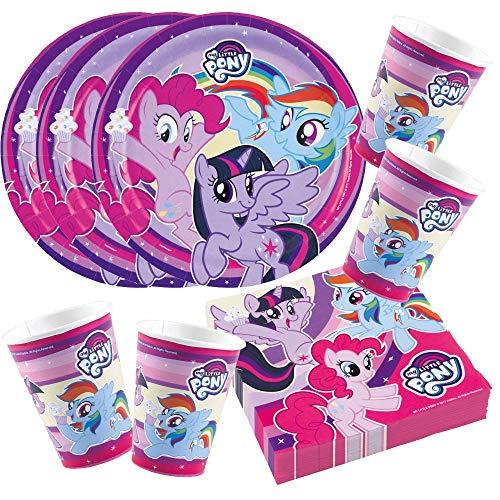 Unbekannt 52-teiliges Party-Set My Little Pony 2017 - Teller Becher Servietten für 16 Kinder