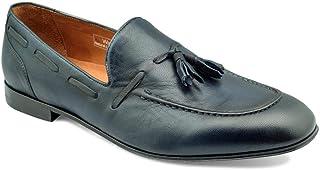 tresmode Men's Classic Navy Tassel Loafers