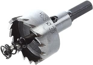 Cikuso 28 mm de diametro hierro HSS de corona tono plateado