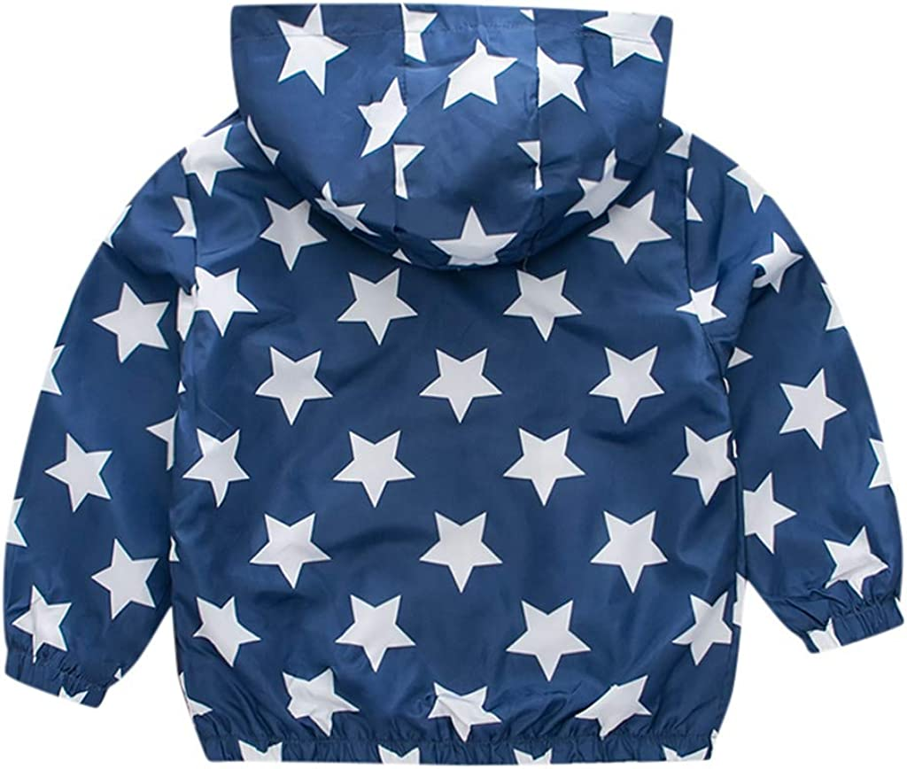 SO-buts Toddler Kids Baby Girls Boys Autumn Winter Fashion Casual Long Sleeve Car Star Print Windproof Coat Hooded Outwear Jacket