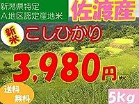 平成28年新潟県産特定産地米 (佐渡産5㎏)