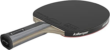 Killerspin Diamond TC RTG Ping Pong Paddle  Table Tennis Racket  Flared Handle Ping Pong Paddle  7-Ply Wood/Titanium Carbon Blade, Fortissimo Rubbers  ITTF Approved  Memory Book Gift Storage Case (106...