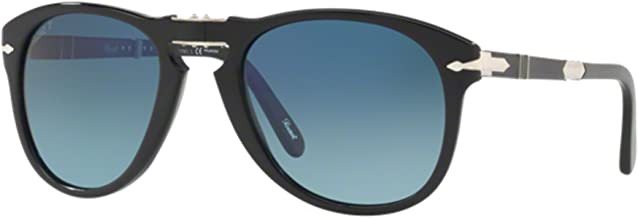 Persol Steve McQueen Limited Edition PO 0714SM Black/Blue Shaded 54/21/140 Men Sunglasses