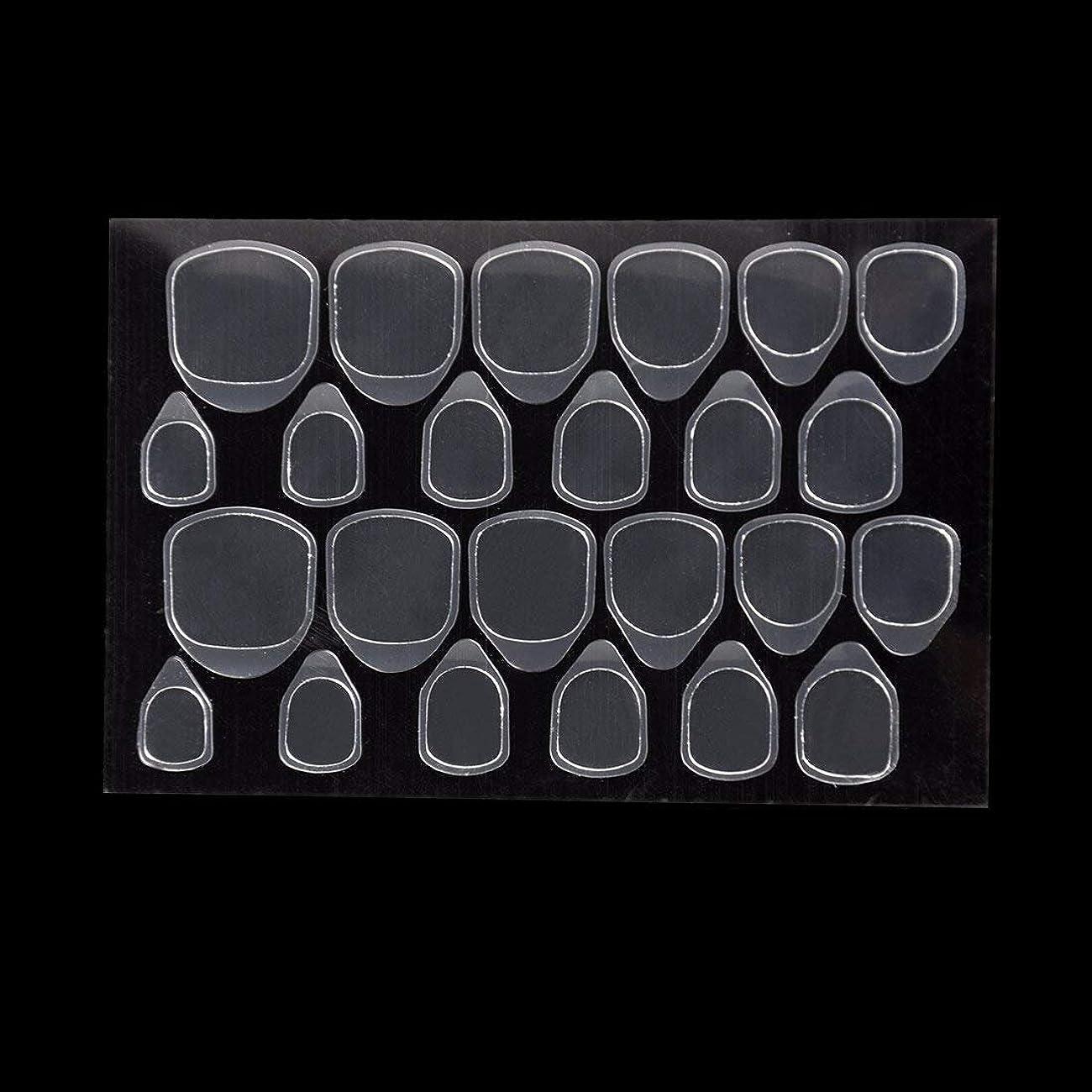 ペレット離れて悲劇的なつけ爪用 両面テープ ネイル 推奨超強力両面テープ ネイル両面接着剤 ネイルチップ用粘着グミ 10枚セット (スタイル1)