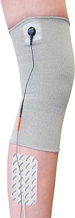 Bandage d'electrostimulation de genou contre l'arthrose - pads avec connexion 2 mm - patch pour electrostimulateurs TENS et EMS