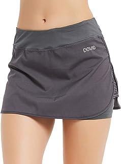 Dovio Women's UPF 50+ Athletic Skort for Performance Training Tennis Golf & Running Skirt