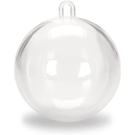 80mm Clear Plastic Acrylic Fillable Ball Ornament