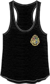 HARRY POTTER Hogwarts Crest Racerback Juniors Tank Top Shirt New Licensed