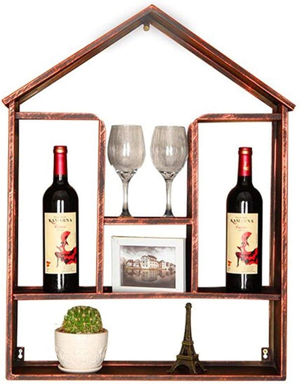 estilo clásico Soporte de parojo para vinos, metal  Estante de de de parojo LOFT Rack de almacenamiento de parojo  Porta Botellas De Vino  Soporte para copas de vino colgante  Cube Wine Cabinet Vintage Industrial Style  despacho de tienda