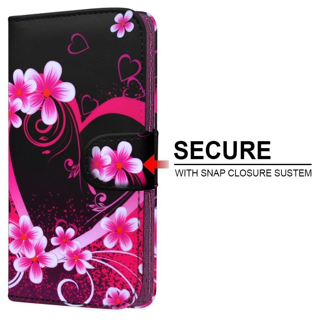 Spyrox – Elephone Vowney Lite (5.5 Inch) Cristal Estampado PU Funda de piel cubierta de la piel carpeta del Modelo de estilo de la pluma pinza templado Love Hearts: Amazon.es: Electrónica