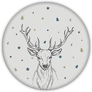 Cervus Deer | Cam Kesme Tahtası (Çap32 cm)
