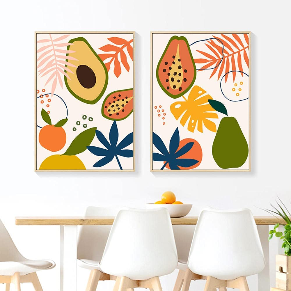 YCHND New product! New type Tropical Fruits Wall Art Cartoons Canvas Abstract Rare Painting