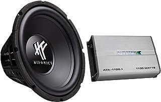 $99 » Autotek Amp & Hifonics Subwoofer Bundle (1 Each) – Autotek Alloy AYA-1100.1 Mono Sub Car Audio Amplifier (Class A/B, 1100 ...