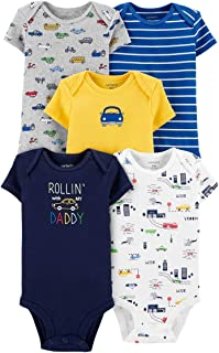 Carter's Baby Boys 5 Pack Cotton Original Bodysuits