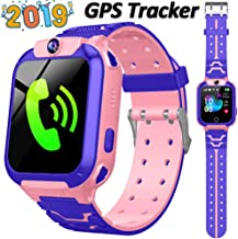 Kids Smart Watch GPS Tracker for Girls Boys Children Smartwatch Phone with 1.44'' HD Touch Screen SOS Two-Way Call Voice Chat Camera Alarm Clock Math Game Watch for Christmas Birthday Gifts (Pink)