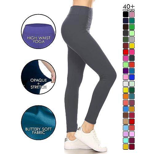 37037a9534 Leggings Depot High Waisted Leggings -Soft & Slim - 37+ Colors & 1000+