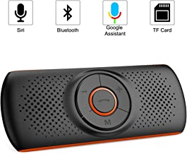 Aigoss Bluetooth Car Speakerphone for Cell Phone, Wireless Car Speaker Kit Music Player with 2 Phones Connection Simultaneous, Support Siri/Google Assistant/TF Card