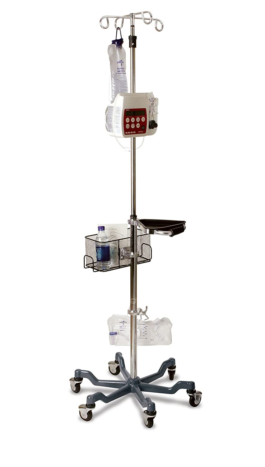 Medline MDS80600GRY Six Leg Max 66% OFF Heavy Duty Quick Overseas parallel import regular item Pole with IV Stand