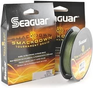 Seaguar  Smackdown Braided Fishing Line, Green, 65-Pound/150-Yard