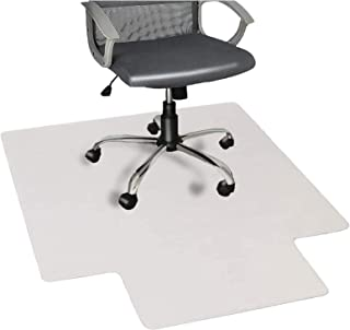 "Nontoxic Office Chair Mat for Hard Floor 36"" x 48"" BPA Free Transparent Hardwood Floor Protector Easy Glide for Chairs Fla..."
