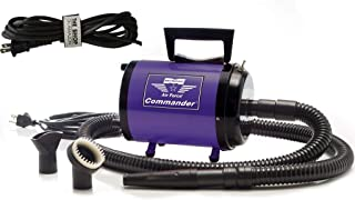 Dog Dryer Metrovac's Air Force Commander Professional Dog Grooming Pet Dryer – Portable Hair Dryer, 2 Speed 4.0HP Motor – Ideal for Double-Coated Dogs – 5 Unique Colors (Purple)
