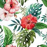 murando Papel Pintado 10 m Hojas Tropicales Monstera - Papel pintado tejido no tejido – XXL - Fotomurales Decorativos Pared – Flores Planta Tropical b-B-0291-j-b