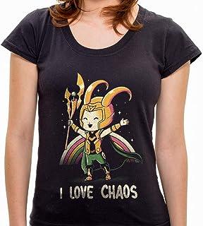 Camiseta I Love Chaos - Feminina