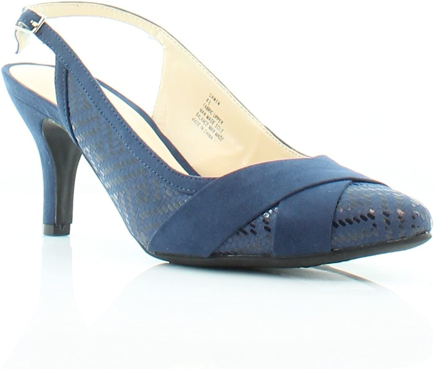 Karen Scott Ghwen Pointed-Toe Pumps Navy 8.5M