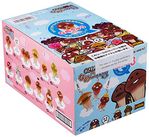 3 BOX get touch detective Mushroom Garden kit with suction cup mascot suddenly licked (japan import)