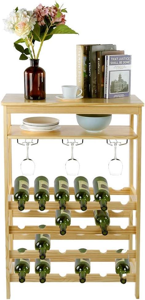 Greensen Wine Regular discount Rack 24 Bottle Bamboo Holder cheap with