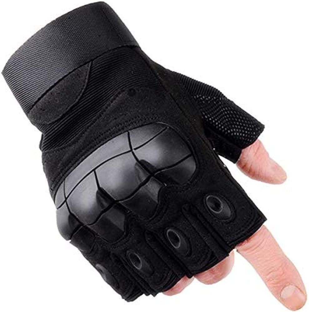 ACOMOO Outdoor Gloves Fingerless Hard Knuckle Protection Motorcycle Cycling Gym Rock Climbing Camping