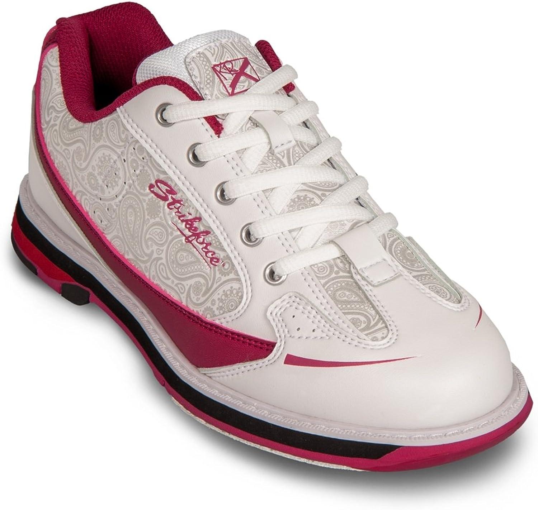 KR Strikeforce Womens Curve Bowling shoes- White Scarlet Paisley