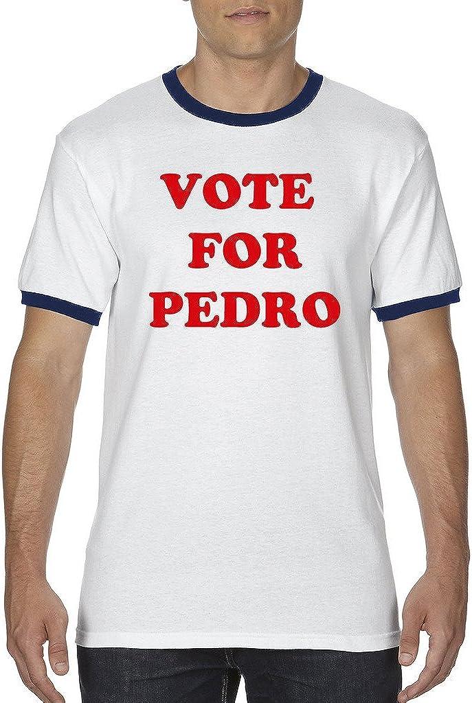 Vote For Pedro White//Black Men/'s Ringer T-Shirt