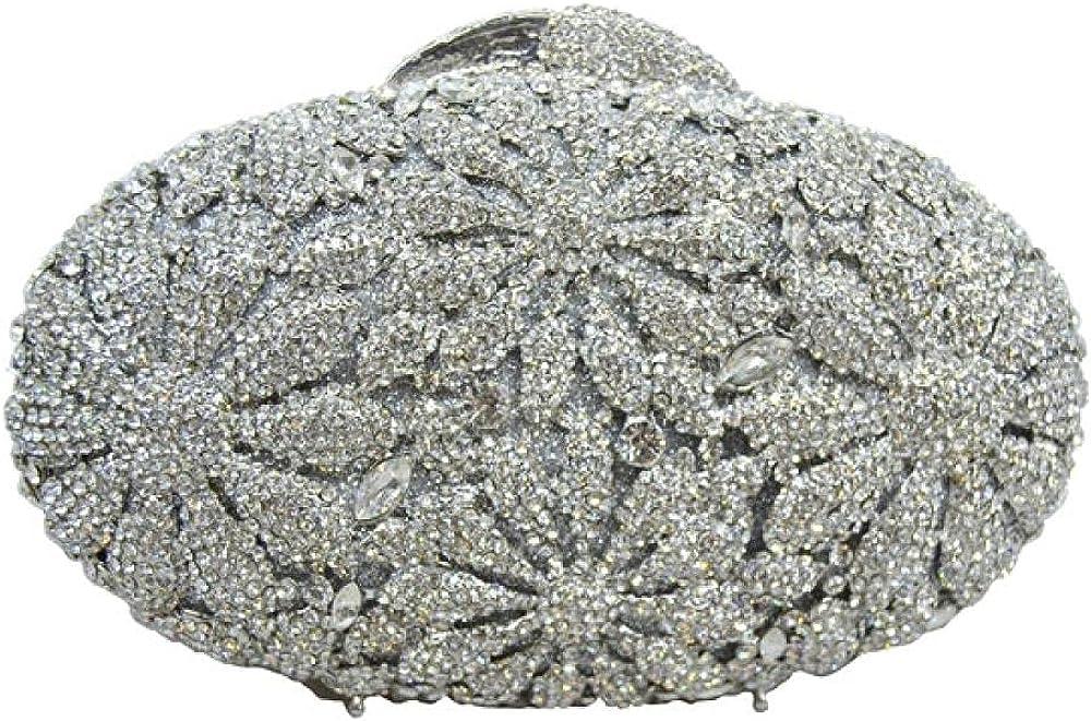 Floral luxury crystal evening bag ladies rhinestone handbag Super-cheap Clut safety