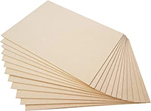 Incredible Gifts India MDF Wood Sheets for Multipurpose Use (Set of 12, 6 x 6 Inch x 1 mm)