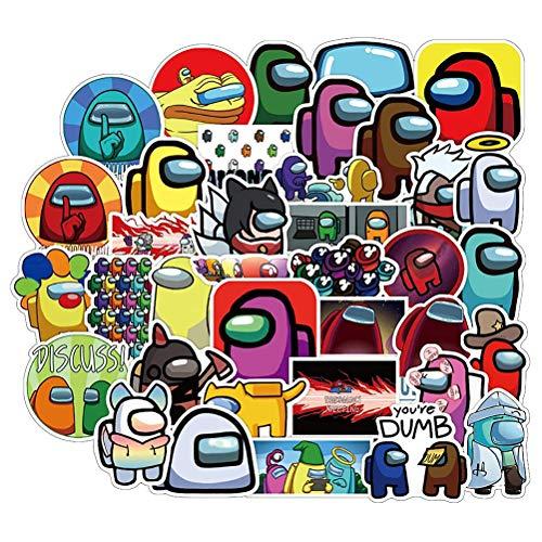 Wasserdicht Aufkleber 50/100 Stück Among Us Graffiti Aufkleber Spiel Anime Helm Stickers für Auto Motorräder Fahrrad Skateboard Snowboard Gepäck Laptop