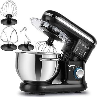 comprar comparacion ALBOHES Batidora Amasadora, 6 Velocidades Kitchen Mixer Multifuncional, 3 Ganchos, Bajo Ruido, Robot de Cocina con Protect...