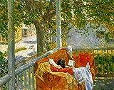 Das Museum Outlet–Couch auf der Veranda, Cos Cob, 1914–Leinwand Print Online kaufen (101,6x 127cm)