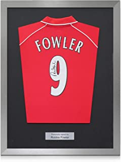 Framed Robbie Fowler Back Signed 2001 Liverpool Shirt