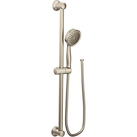 Moen 3668EPBN Handheld Showerhead with 69-Inch-Long Hose Featuring 24-Inch Slide Bar, Brushed Nickel